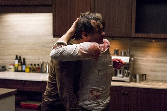 "HANNIBAL -- ""Aperitivo"" Episode 304 -- Pictured: (l-r) Hugh Dancy as Will Graham, Mads Mikkelsen as Hannibal Lecter -- (Photo by: Brooke Palmer/NBC)"