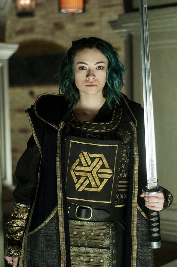 """DARK MATTER -- """"Episode Six"""" Episode 106 -- Pictured: Jodelle Ferland as Five -- (Photo by: David Lee/Prodigy Pictures/Syfy)"""
