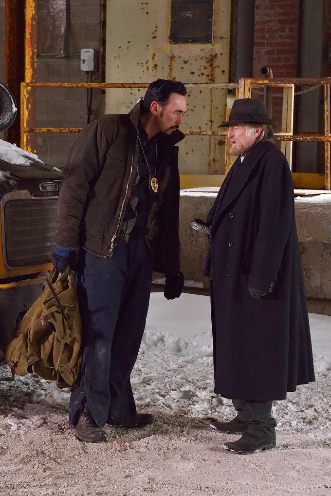 "THE STRAIN -- ""The Born"" -- Episode 207 (Airs August 23, 10:00 pm e/p) Pictured: (l-r) Kevin Durand as Vasiliy Fet, David Bradley as Abraham Setrakian.  CR: Michael Gibson/FX"