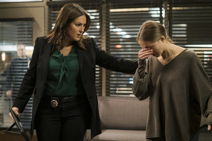 """LAW & ORDER: SPECIAL VICTIMS UNIT -- """"Sheltered Outcasts"""" Episode 1719 -- Pictured: (l-r) Mariska Hargitay as Olivia Benson, Laura Piccoli as Sofie Nomaks -- (Photo by: Michael Parmelee/NBC)"""