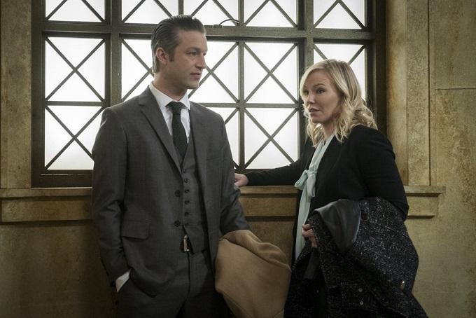 """LAW & ORDER: SPECIAL VICTIMS UNIT -- """"Sheltered Outcasts"""" Episode 1719 -- Pictured: (l-r) Peter Scanavino as Dominick Carisis, Jr., Kelli Giddish as Amanda Rollins -- (Photo by: Michael Parmelee/NBC)"""