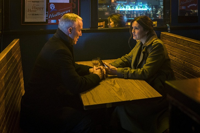 "LAW & ORDER: SPECIAL VICTIMS UNIT -- ""Manhattan Transfer"" Episode 1717 -- Pictured: (l-r) Robert John Burke as Captain Ed Tucker, Mariska Hargitay as Olivia Benson -- (Photo by: Michael Parmelee/NBC)"