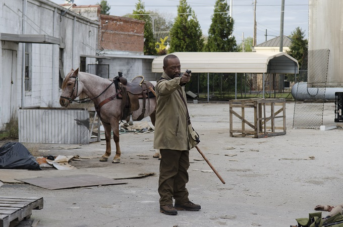 Lennie James as Morgan Jones - The Walking Dead _ Season 6, Episode 16 - Photo Credit: Gene Page/AMC