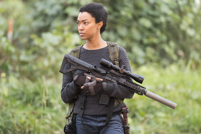 Sonequa Martin-Green as Sasha - The Walking Dead _ Season 6, Episode 16 - Photo Credit: Gene Page/AMC