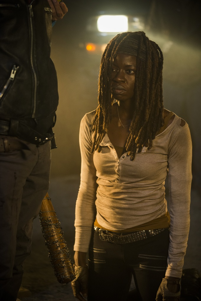 >>> NOT TO BE USED UNTIL 10/24/16 at 1:00 AM EST <<< Danai Gurira as Michonne- The Walking Dead _ Season 7, Episode 1 - Photo Credit: Gene Page/AMC