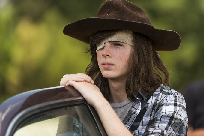 Chandler Riggs as Carl Grimes - The Walking Dead _ Season 7, Episode 5 - Photo Credit: Gene Page/AMC