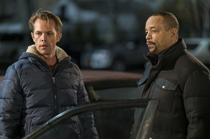 "LAW & ORDER: SPECIAL VICTIMS UNIT -- ""Next Chapter"" Episode 1812 -- Pictured: (l-r) Ray Wilson as Ben Cole, Ice T as Detective Odafin ""Fin"" Tutuola -- (Photo by: Michael Parmelee/NBC)"