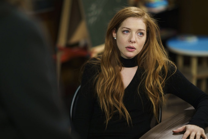 """LAW & ORDER: SPECIAL VICTIMS UNIT -- """"Chasing Theo"""" Episode 1813 -- Pictured: Rachelle Lefevre as Nadine Le Doux -- (Photo by: Michael Parmelee/NBC)"""