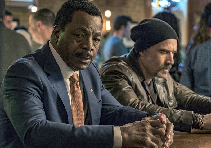 """CHICAGO P.D. -- """"Favor, Affection, Malice Or Ill-Will"""" Episode 415 -- Pictured: Carl Weathers as Mark Jefferies -- (Photo by: Matt Dinerstein/NBC)"""
