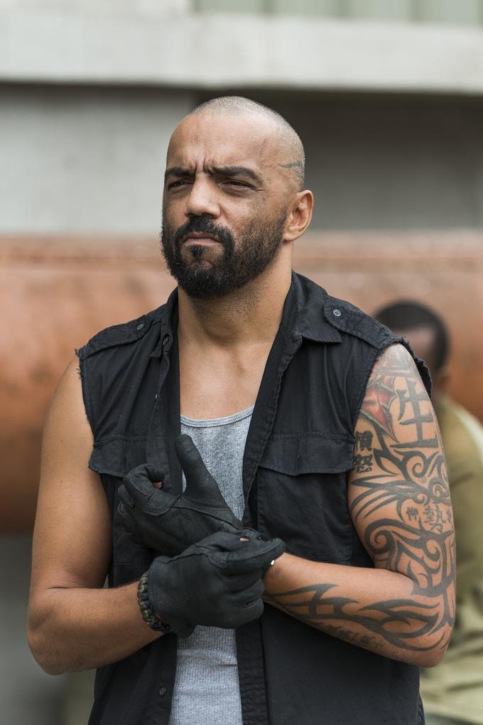 Vince Pusani as Savior- The Walking Dead _ Season 7, Episode 11 - Photo Credit: Gene Page/AMC
