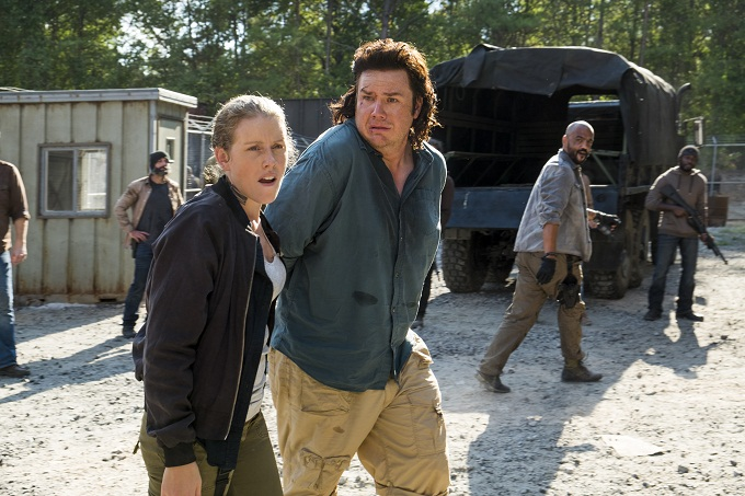Josh McDermitt as Dr. Eugene Porter, Lindsley Register as Laura - The Walking Dead _ Season 7, Episode 11 - Photo Credit: Gene Page/AMC