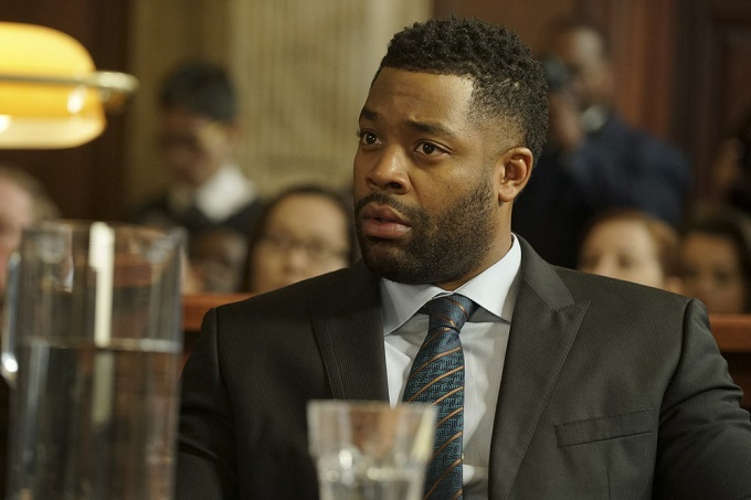 "CHICAGO JUSTICE -- ""Uncertainty Principle"" Episode 107 -- Pictured: LaRoyce Hawkins as Kevin Atwater -- (Photo by: Elizabeth Morris/NBC)"