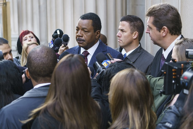 "CHICAGO JUSTICE -- ""Uncertainty Principle"" Episode 107 -- Pictured: Carl Weathers as Mark Jefferies -- (Photo by: Parrish Lewis/NBC)"