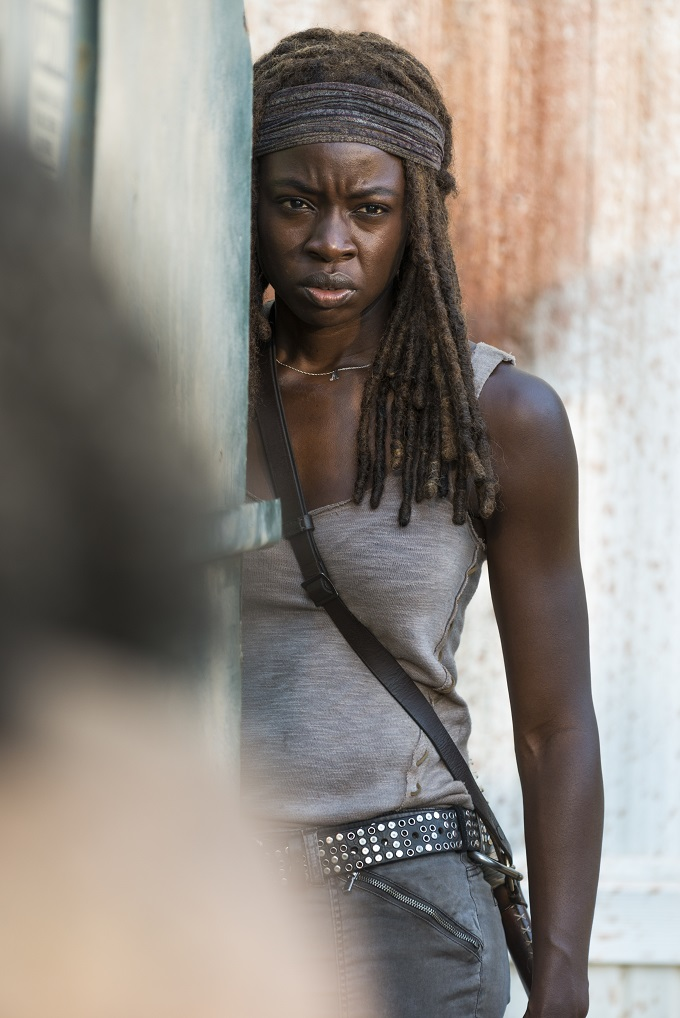 Danai Gurira as Michonne - The Walking Dead _ Season 7, Episode 12 - Photo Credit: Gene Page/AMC